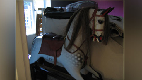 Missing or stolen rocking horse